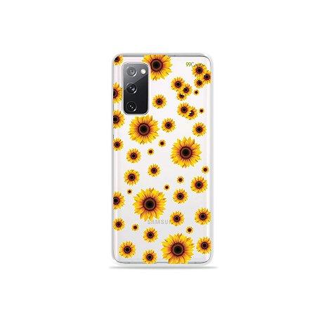 Capa (Transparente) para Galaxy S20 FE - Girassóis