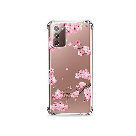 Capa (Transparente) para Galaxy Note 20 - Cerejeiras