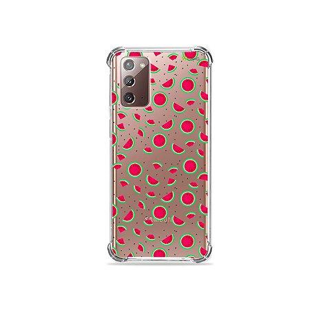 Capa (Transparente) para Galaxy Note 20 - Mini Melancias