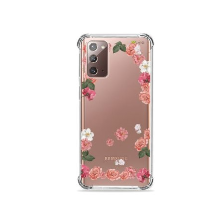 Capa (Transparente) para Galaxy Note 20 - Pink Roses