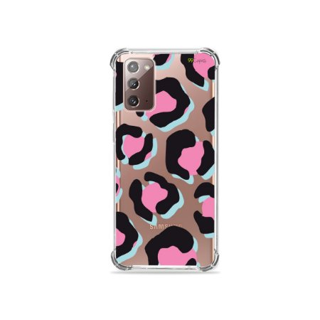 Capa (Transparente) para Galaxy Note 20 - Animal Print Black & Pink