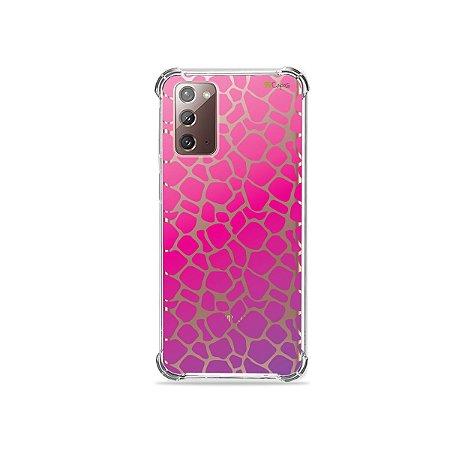 Capa (Transparente) para Galaxy Note 20 - Animal Print Pink