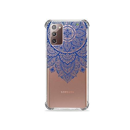 Capa (Transparente) para Galaxy Note 20 - Mandala Azul