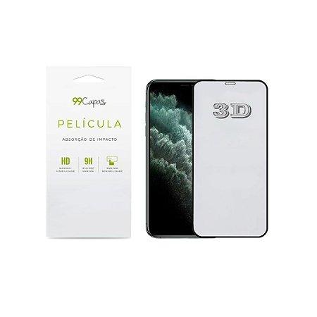 Película de Vidro 3D (borda preta) para iPhone 12 Mini (5.4')- 99Capas