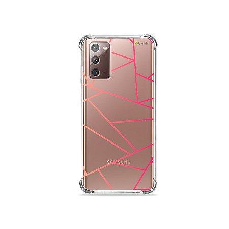 Capa (Transparente) para Galaxy Note 20 - Abstrata