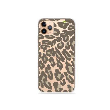 Capa (Transparente) para iPhone 12 Pro - Animal Print Nude