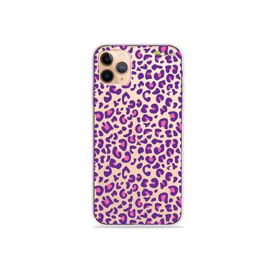 Capa (Transparente) para iPhone 12 Pro - Animal Print Purple