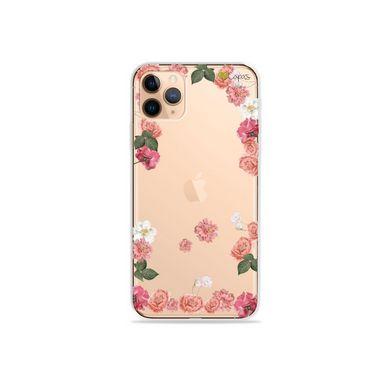 Capa (Transparente) para iPhone 12 Pro - Pink Roses