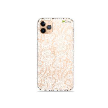 Capa (Transparente) para iPhone 12 Pro - Rendada