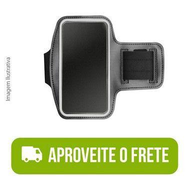 Braçadeira Esportiva Preta de Neoprene para Galaxy M21s
