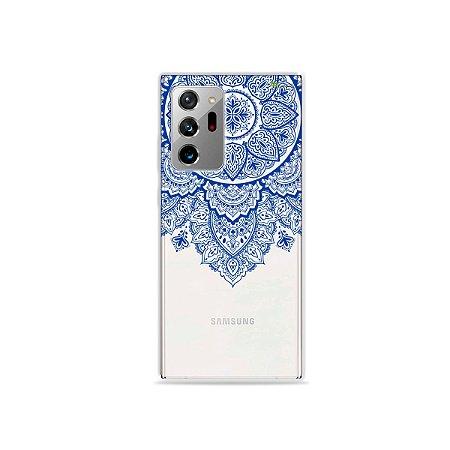Capa (Transparente) para Galaxy Note 20 Ultra - Mandala Azul