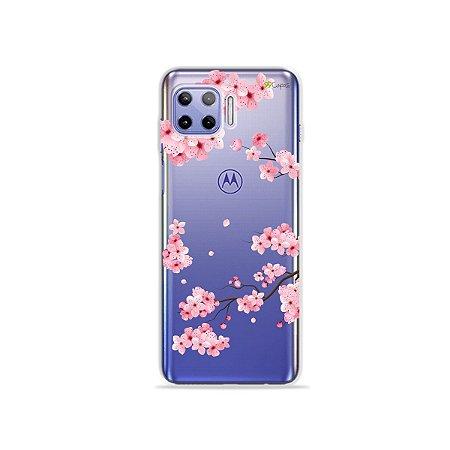 Capa (Transparente) para Moto G 5G Plus - Cerejeiras