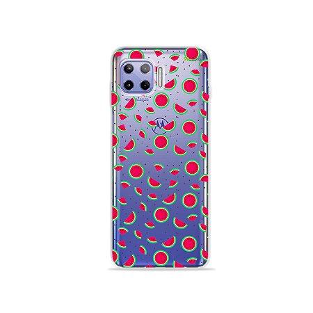Capa (Transparente) para Moto G 5G Plus - Mini Melancias
