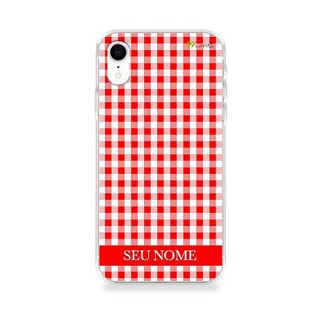 Capa Vichy Vermelho personalizada com nome para iPhone - 99Capas