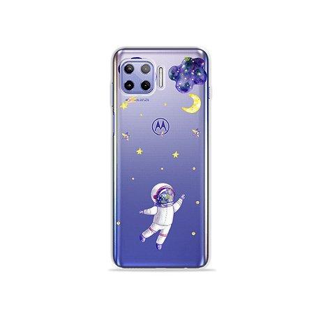 Capa (Transparente) para Moto G 5G Plus - Astronauta Sonhador