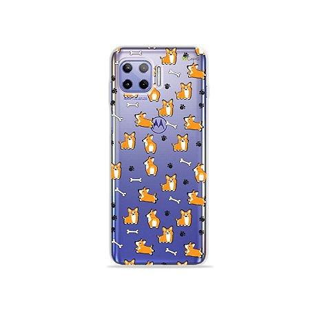 Capa (Transparente) para Moto G 5G Plus - Cãozinho