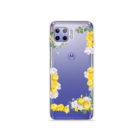 Capa (Transparente) para Moto G 5G Plus - Yellow Roses