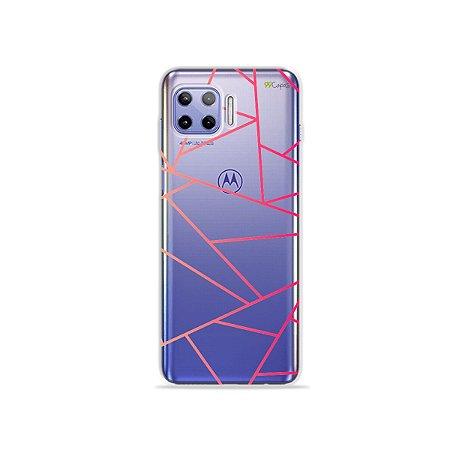 Capa (Transparente) para Moto G 5G Plus - Abstrata