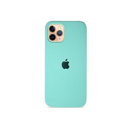 Silicone Case Verde Água para iPhone 12 - 99Capas