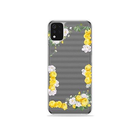 Capa (Transparente) para LG K52 - Yellow Roses