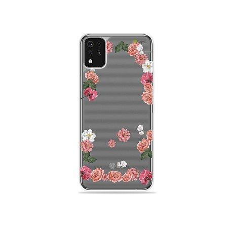 Capa (Transparente) para LG K52 - Pink Roses