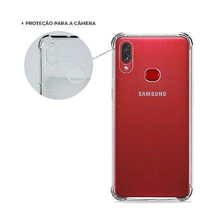 Capa Anti-Shock Transparente para Galaxy A10s (com proteção para câmera)