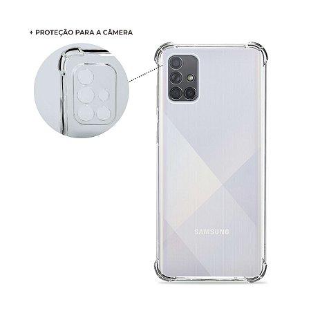 Capa Anti-Shock Transparente para Galaxy A71 (com proteção para câmera)