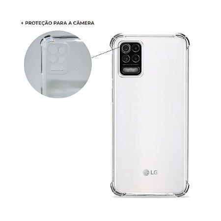 Capa Anti-Shock Transparente para LG K62 (com proteção para câmera)