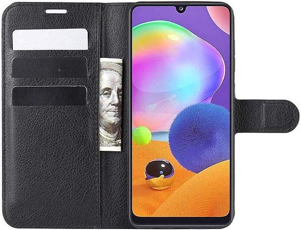 Capa Carteira Preta para Galaxy A31
