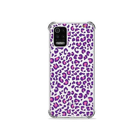 Capa (Transparente) para LG K62 - Animal Print Purple