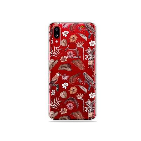 Capinha (transparente) para Galaxy A10s - Sweet Bird