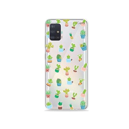 Capinha (transparente) para Galaxy A51 - Cactus