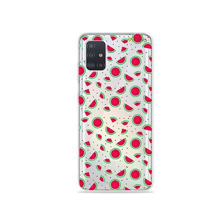 Capinha (transparente) para Galaxy A51 - Mini Melancias