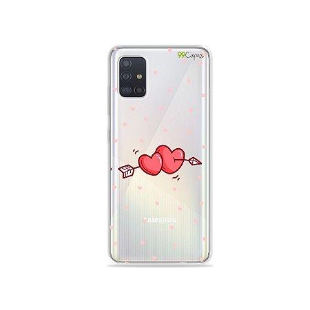 Capinha (transparente) para Galaxy A51 - In Love