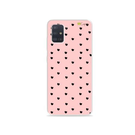 Capinha para Galaxy A51 - Corações Preto