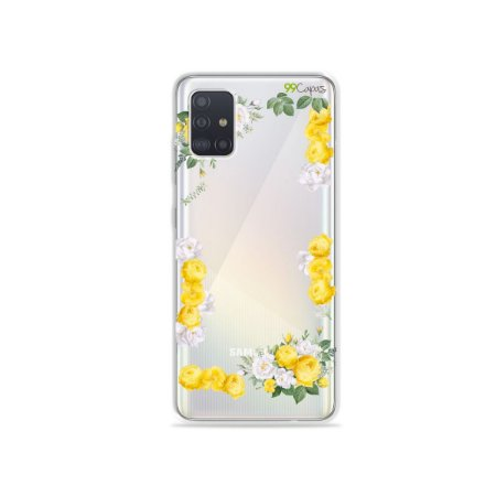 Capinha (transparente) para Galaxy A51 - Yellow Roses