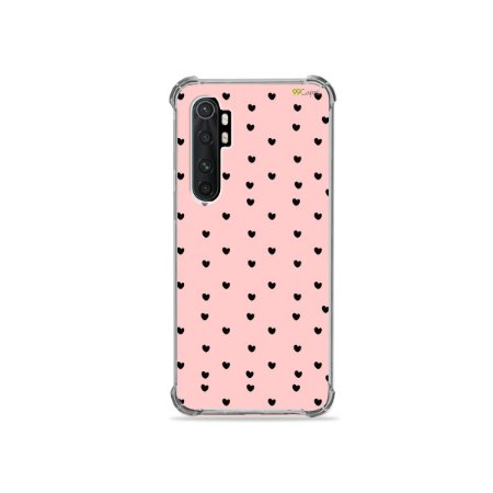 Capa para Xiaomi Mi Note 10 Lite - Corações Preto