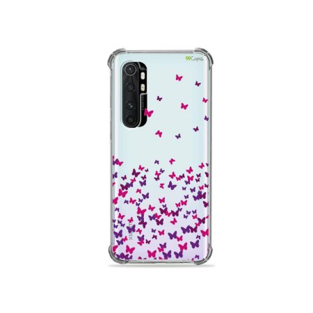 Capa (transparente) para Xiaomi Mi Note 10 Lite - Borboletas Flutuantes