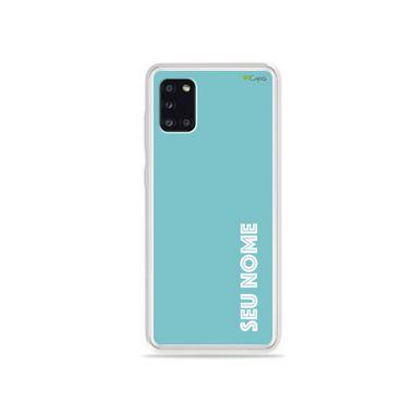 Capa Azul com nome personalizado para Galaxy S