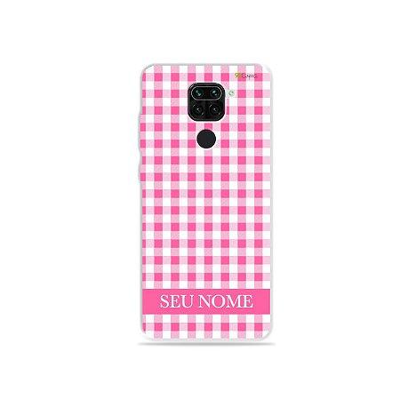 Capa Vichy Rosa personalizada com nome para Xiaomi - 99Capas