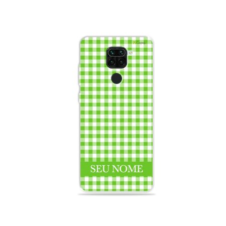 Capa Vichy Verde personalizada com nome para Xiaomi - 99Capas