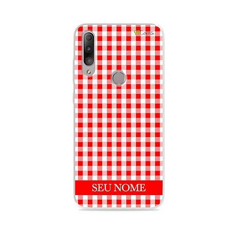 Capa Vichy Vermelho personalizada com nome para Zenfone - 99Capas