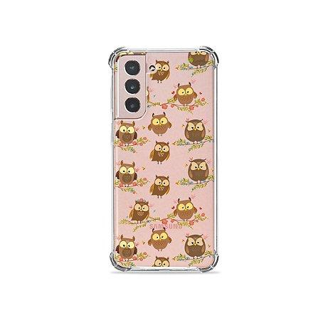 Capa (Transparente) para Galaxy S21 Plus - Corujinhas