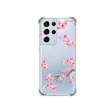 Capa (Transparente) para Galaxy S21 Ultra - Cerejeiras