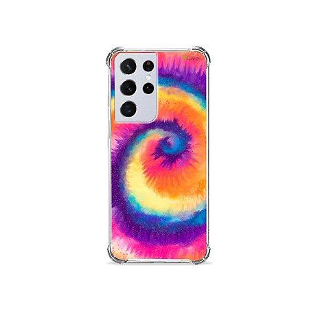 Capa para Galaxy S21 Ultra - Tie Dye Roxo