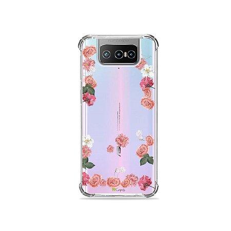 Capa (Transparente) para Zenfone 7 - Pink Roses