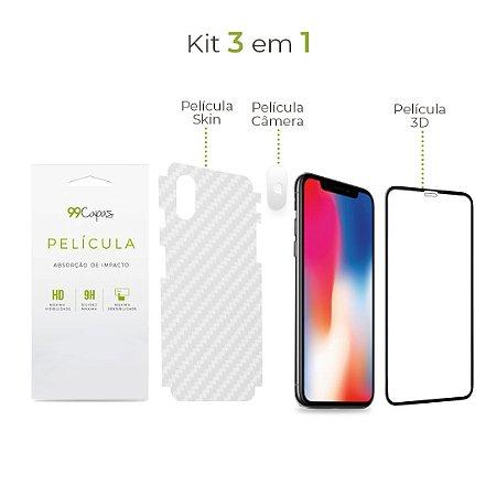 Kit de Películas 3 em 1 para iPhone X
