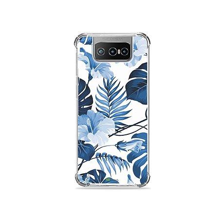 Capa para Zenfone 7 - Flowers in Blue