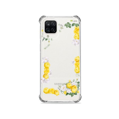 Capa (Transparente) para Galaxy A12 - Yellow Roses