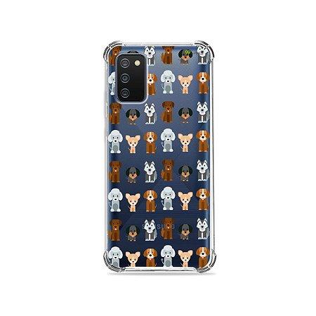 Capa (Transparente) para Galaxy A02s - Doguinhos